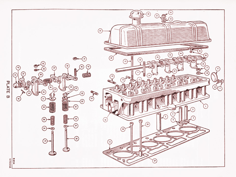 ford pinto engine wiring diagram 1600 cylinder head @ canley classics engine heads diagram